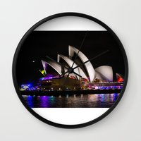 australia Wall Clocks featuring Australia by lcouch