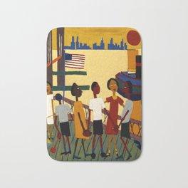 African American Masterpiece 'Ferry' NYC by William Johnson Bath Mat