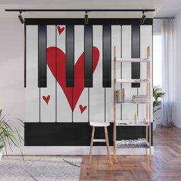 Love Piano Wall Mural