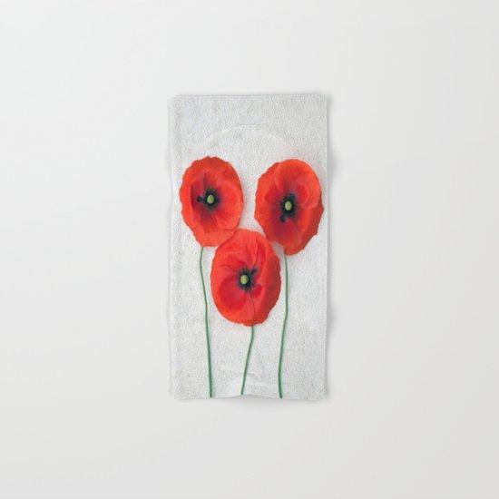 Three red Poppies III Hand & Bath Towel