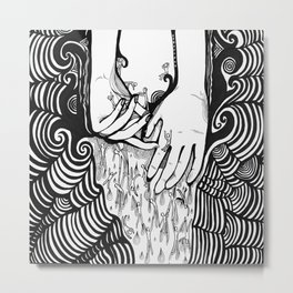 Slipping thru my Fingers Metal Print