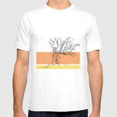 flame Mens Fitted Tee MEDIUM White