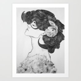 Lady of the Lambs Art Print