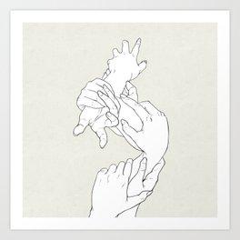 Hand Plant Art Print