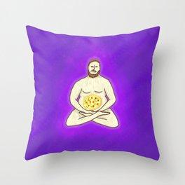 Yoga Pizza Throw Pillow