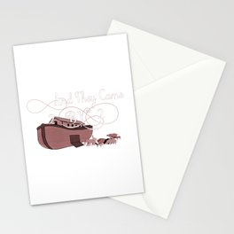 And They Came Two By Two Genesis Noahs Ark Lover Stationery Cards