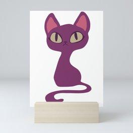 Purple cat Mini Art Print