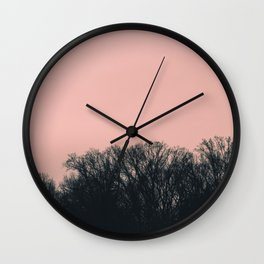 Rose Tree Tops Wall Clock