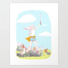 Bunny Warrior Art Print
