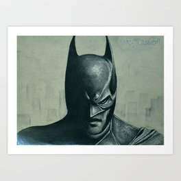 Caped Crusader  Art Print