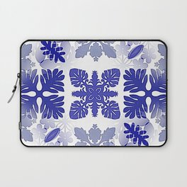 Christmas Blue Snowflake Pattern Scandinavian Inspired Laptop Sleeve