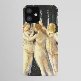 Sandro Botticelli Primavera The Three Graces iPhone Case