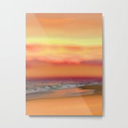 Ocean Reflections Vibrant Sunset Metal Print
