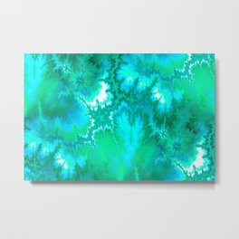 Synaptic Transmission Green Solace Metal Print