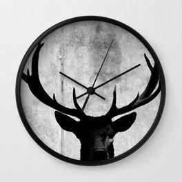 Industrial Black Deer Silhouette A313 Wall Clock