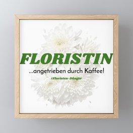 Florist And Coffee Framed Mini Art Print