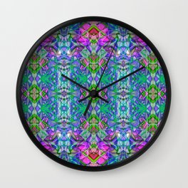 Fractal Art Stained Glass G372 Wall Clock