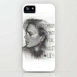 Bad Blood.... Bandaids don't fix bullet holes. iPhone Case
