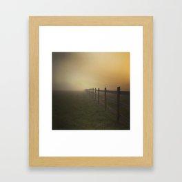 Misty Sunrise on the Farm Framed Art Print