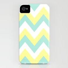 MINT & YELLOW CHEVRON Slim Case iPhone (4, 4s)