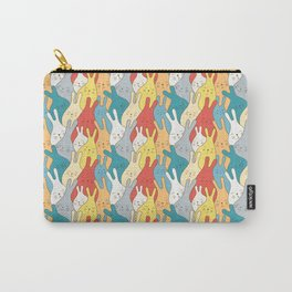 Dreaming cute bunnies  or hares. Seamless pattern Carry-All Pouch