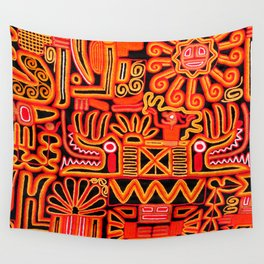 Beautiful blanket with a typical Peruvian design Wall Tapestry