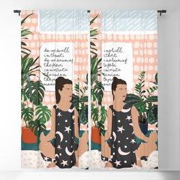 Self Care Art Print Blackout Curtain