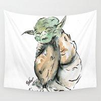 yoda Wall Tapestries featuring Yoda by Fernando Eizaguirre