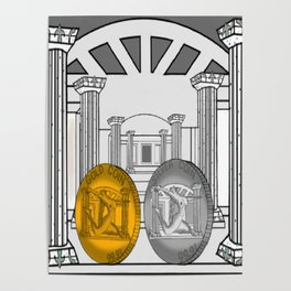 Necropolis Coins Gold and Silver 1 Poster