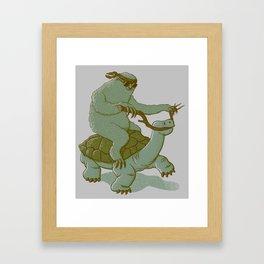 Slow Ridin' Sloth Framed Art Print