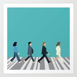 The tiny Abbey Road Art Print