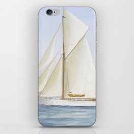 Vintage Racing Ketch Sailboat Illustration (1913) iPhone Skin