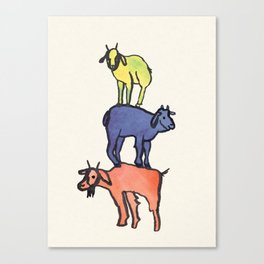 3 Billy Goats Up Canvas Print