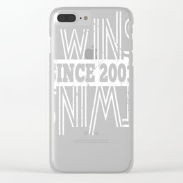 Twins-Since-2001---16th-Birthday-Gifts Clear iPhone Case