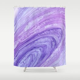 Purple Agate Geode Crystal Slice Shower Curtain