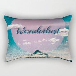 Wanderlust Mountain Rectangular Pillow