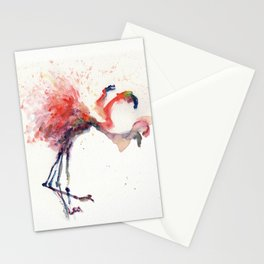 Flamingo in Motion II Stationery Cards