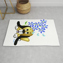 """""""Pup In The Garden"""" Rug"""