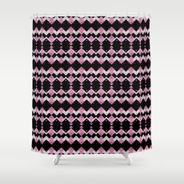 Pink Flamingos Art Deco Pattern Shower Curtain