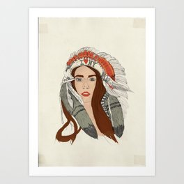 Indian NY Art Print