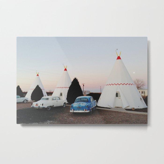 Wigwam Motel Metal Print