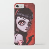 tina crespo iPhone & iPod Cases featuring 7-Tina by Dienzo Art
