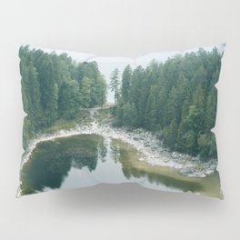 Forest Lake behind a large lake in the forest – Landscape Photography Pillow Sham
