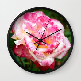 Tie-Dye Rose Wall Clock
