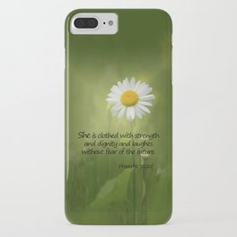 She is Clothed With Strength iPhone Case