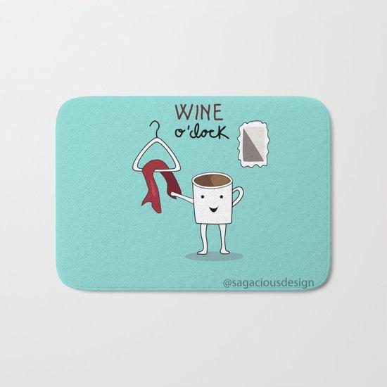 Wine O'clock Bath Mat