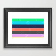 Miami Stripe Framed Art Print
