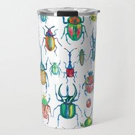 colours oc beetles pattern Travel Mug
