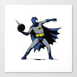Bat Throwing Bomb Canvas Print