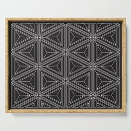 Geometric optical work Serving Tray